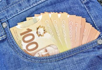 canadian money concept