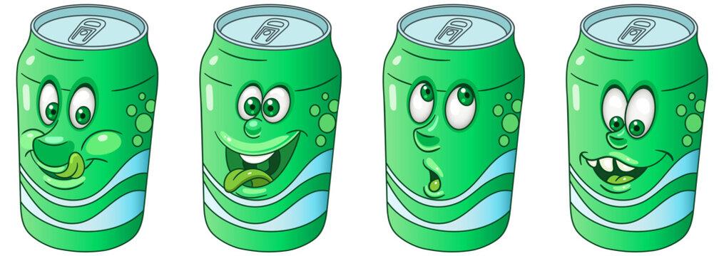 Soda Can. Drink Beverage Emoji Emoticon collection