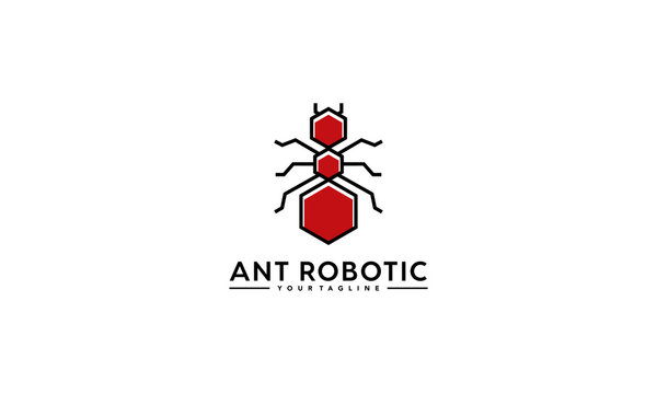 Ant Robot Polygon Simple Logo Template