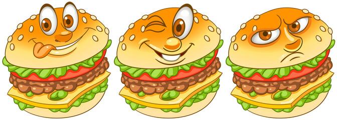 Burger. Hamburger. Cheeseburger. Fast Food concept