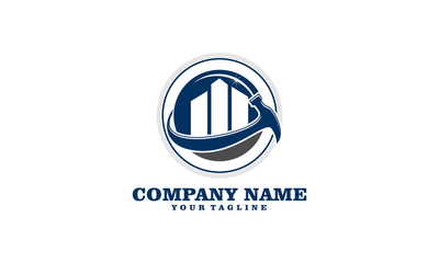 Buy Sell Maintenance Building Property Logo Template