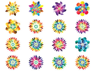 Flower icon in EPS10 vector format isolated