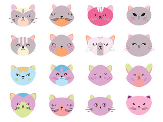 Cat icon in EPS10 vector format isolated