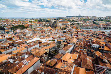 Aerial view of the Oporto, Portugal