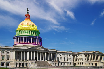 LGBT US Capitol dome