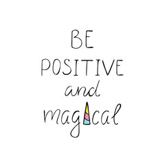 Be positive and magical text creative.
