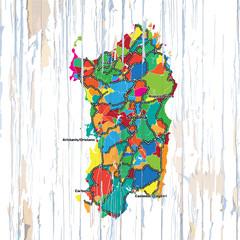 Vintage map of Sardinia