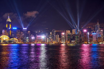 abstract symphony of light cityscape in hong kong