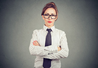 Modern businesswoman in glasses