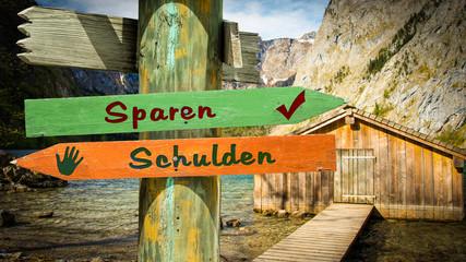 Schild 353 - Sparen