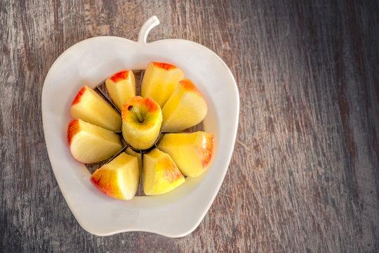 apple slices clean eating background apple corer slicer