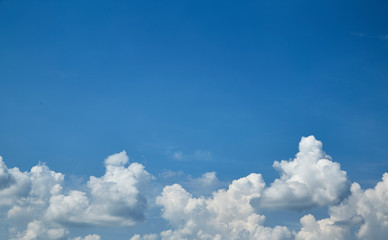 Blue sky with a white clouds