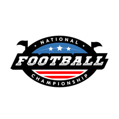 National championship. American football logo. Vector illustration.