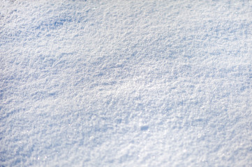 View of snow, texture, white surface with snowflakes