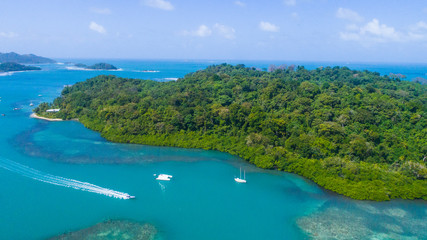 Marina close to Portobelo at the Caribbean in Panama