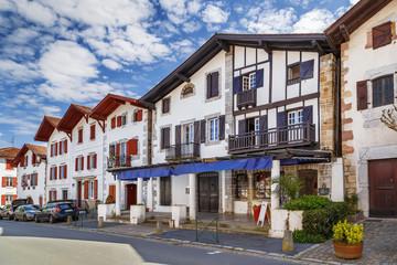 Street in Ainhoa, Pyrenees-Atlantiques, France