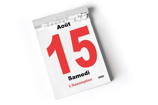 15. août 2020 L'Assomption