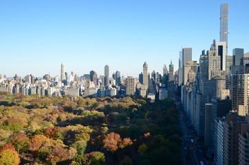 New York City Manhattan view, Columbus circle, New York City, USA.