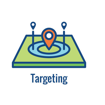 Geo Location Targeting - GPS Positioning and Geolocation Icon