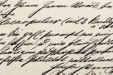 Handwritten calligraphic text texture background Digital paper