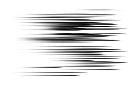 Black speed lines