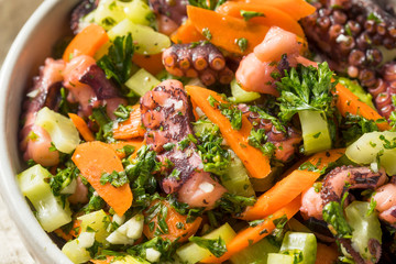 Homemade Mediterranean Octopus Salad