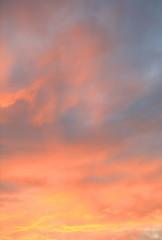 sunset sky at summer
