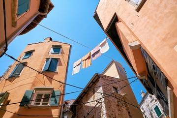 historische Gebäude in der Altstadt von Rovinj in Kroatien