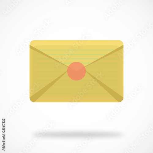 envelope mail letter icon email message e mail isolated post