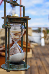 Hourglass (Sand Clock) on an old Ship