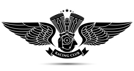 Symbol of a racing club, vector illustration.