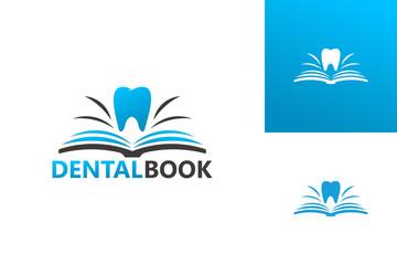 Dental Book Logo Template Design Vector, Emblem, Design Concept, Creative Symbol, Icon