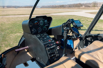 helicopter cockpit close up