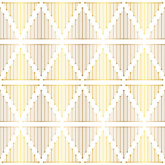 Gradient gold white linear seamless sacred geometry pattern. Golden sacral geometric occult cosmic line art signs for fabric prints, surface textures, cloth design, wrapping. EPS10 vector backdrop.