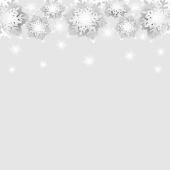 Vector Christmas and New Year holidays background with snowflakes.