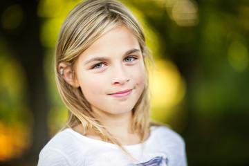 Portrait of smiling girl at park