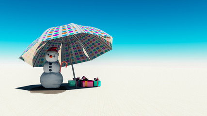 Christmas concept with snowman