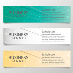 Business Banner abstract vector background for use in design. 