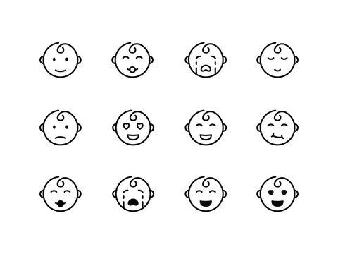 Baby Icon Logo Vector Symbol. Baby Face Icon