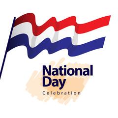 Netherlands National Day Celebration Vector Template Design Illustration