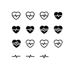 Heartbeat Icon Logo Vector Symbol. Pulse Icon