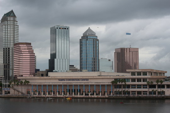 Tampa City Skyline on the River