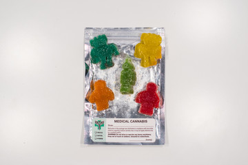 Medical Cannabis Gummies in Colorful Packaging