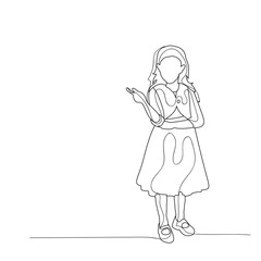 sketch of a child dancing