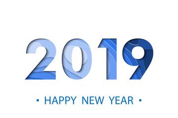 Happy New Year 2019 background.