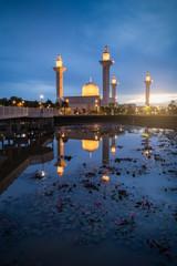 Bukit Jelutong Mosque during sunrise