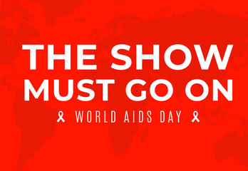 Poster for World AIDS Day awareness solidarity and charity campaign.