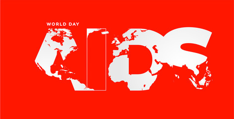 Poster design for World AIDS Day worldwide awareness campaign.