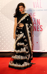 "Actor Nimrat Kaur poses as she arrives at the evening's gala of the film ""Bombay Talkies"" celebrating a hundred years of Indian cinema, during the 66th Cannes Film Festival in Cannes"