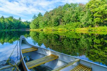 Boat and the Mersey river, in Kejimkujik National Park Fototapete